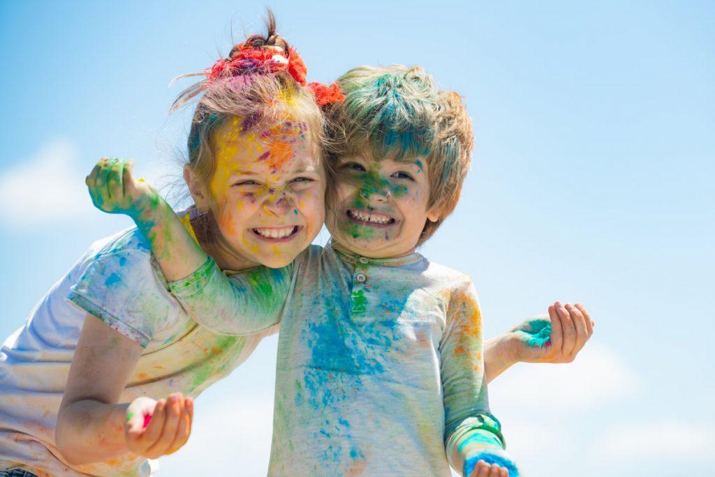 term topics holi festival happy children happy hands