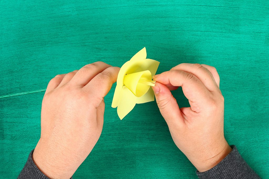 st david's day daffodil making flower paper
